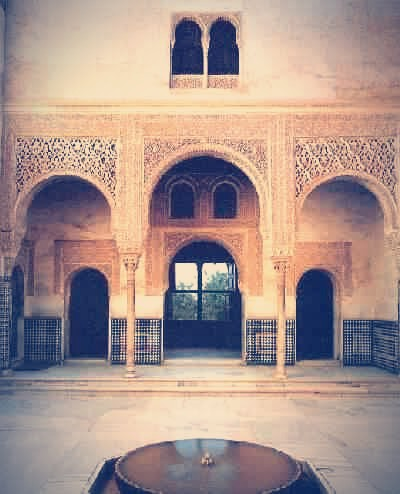 Perspectiva del Cuarto Dorado desde la Fachada de Comares, Alhambra