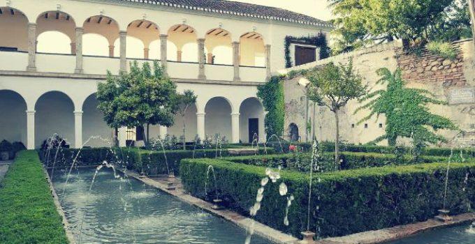 el patio de la sultana generalife alhambra granada
