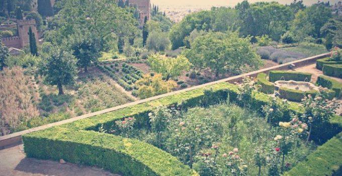 los jardines altos del generalife alhambra granada