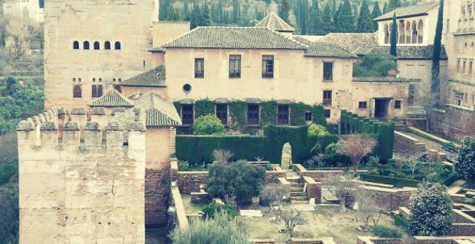 patio y torre de machuca alhambra granada