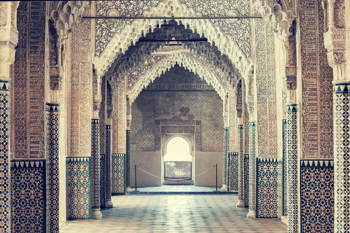 Vista longitudinal de la Sala de los Reyes, Alhambra